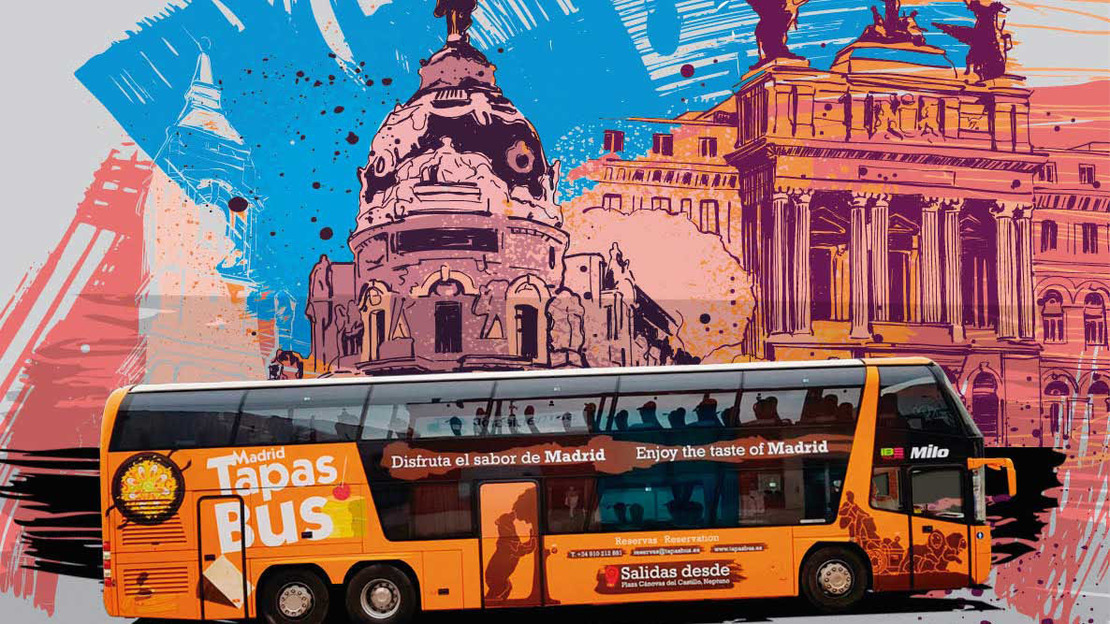Panoramic Tapas Bus Tour in Madrid - Main image
