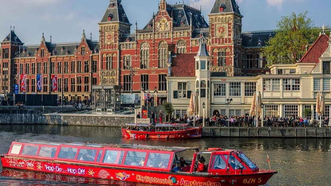 Hop-On Hop-Off Amsterdam Bus or Boat Bus and Boat  - Main image